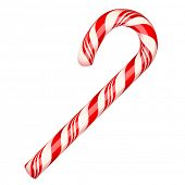 Candy cane isolated on white