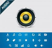 Universal glyphs 4. Audio and music set 1
