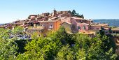 Panoramic View Of Medieval Village Of Roussillon. It Ochre Village Is Included In List Of the Most  poster