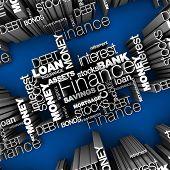 Financial Words 3D