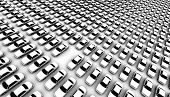 Hundreds of generic cars, one is missing