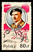 POLAND -CIRCA 1989: A stamp printed in Poland shows Lieutenant-General Wadysaw Anders who was a Gene