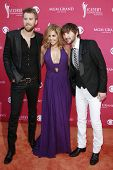LAS VEGAS - APRIL 5: Charles Kelley, Hillary Scott and Dave Haywood of Lady Antebellum  at the 44th annual Academy Of Country Music Awards held at the MGM Grand on April 5, 2009 in Las Vegas, Nevada