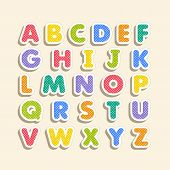 Alphabet For Kids In The Cartoon Style. poster