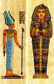 Two egyptian papyrus with elements of ceremonial ornament