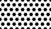 Seamless Soccer Football Hexagon Background Black Texture. Vector Soccer Backdrop Sport Concept. poster