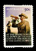 AUSTRALIA - CIRCA 2008: A stamp printed in Australia shows bugler, circa 2008