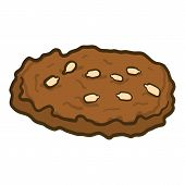 Choco Homemade Cookie Icon. Hand Drawn Illustration Of Choco Homemade Cookie Vector Icon For Web Des poster