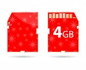 Sd Card With Christmas Design