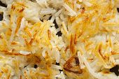 stock photo of hash  - Fresh Homemade Hash Browns to eat for breakfast - JPG