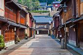 A walking street of Keisha village at Kanazawa