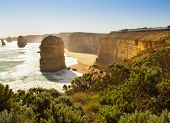 picture of 12 apostles  - Twelve Apostles famous landmark along the Great Ocean Road Australia - JPG