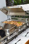 Chafing Dish Heater With Fish Kebab