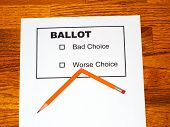 Broken Pencil On Fake Ballot