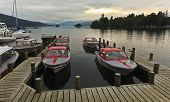 A Sunset Marina Shot In Bowness-on-windermere