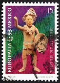 Postage stamp Belgium 1993 Mayan Statuette, Europalia 93