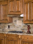 Kitchen Cooktop And Cabinets