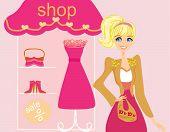 Beautiful Women shopping in clothing store