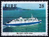 Postage stamp Ireland 1986 M. V. Leinster, 1986, Ship
