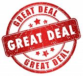 Great deal grunge stamp