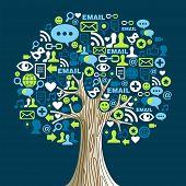 Social-Media-Netzwerken-Baum