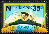 Postage stamp Netherlands 1975 Emblem of Zeeland Steamship Compa