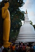 Vesak Full Moon Poya Day Sri Lanka People Temple