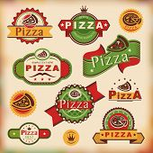 Vintage Pizza Labels