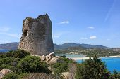 stock photo of saracen  - The saracen tower of Cala Giunco  - JPG