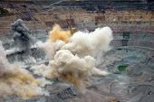 foto of open-pit mine  - Explosion in an open mine in far north - JPG