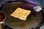 Frying Southern Flat Bread - Roti