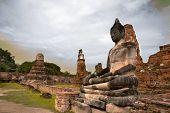 Ancient Buddha Wat Mahatat Thailand