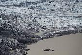 Skaftafellsjokull glacial Moraine, Parque Nacional Skaftafell, Islândia