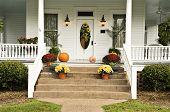 Front Porch With Fall Display