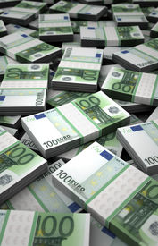 stock photo of billion  - Billion Euros Concept Image  - JPG