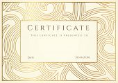 stock photo of certificate  - Certificate of completion  - JPG
