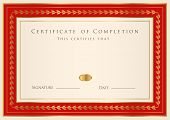 stock photo of credential  - Certificate of completion  - JPG