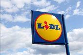 Lidl Supermarket Sign In Karkkila, Finland
