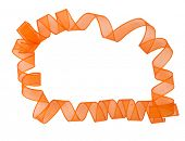orange ribbon surronding copyspace
