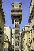 Elevador de Santa Justa at the downtown of Lisbon