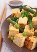 frid tofu with vegetable
