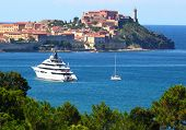 The city of Portoferraio on the island of Elba. City it was founded by in 1548. Mediterranean sea, I