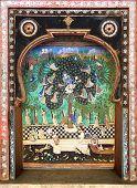 Decoration of the Palace. Bundi