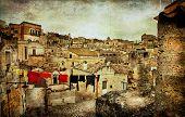 Mattera -ancient cave city of Italy. Basilicata