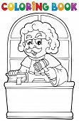 Coloring book judge theme 1 - eps10 vector illustration.