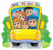 Image with school bus theme 2 - eps10 vector illustration.