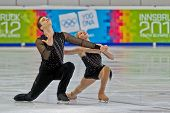 INNSBRUCK, AUSTRIA - JANUARY 14 Caitlin Belt and Michael Johnson (USA) place 4th in the figure skati