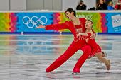 INNSBRUCK, AUSTRIA - JANUARY 14 Xiaoyu Yu and  Yang Jin (China) place first in the figure skating sh