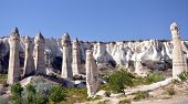 stock photo of chimney  - View of Cappadocia - JPG