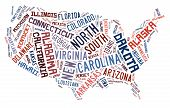 USA puzzle of words